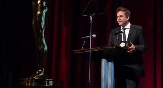 "Patrick Vollrath, winner of the bronze medal in the foreign film category for ""Everything Will Be Okay,"" during the 42nd Annual Student Academy Awards® on Thursday, September 17, in Beverly Hills."